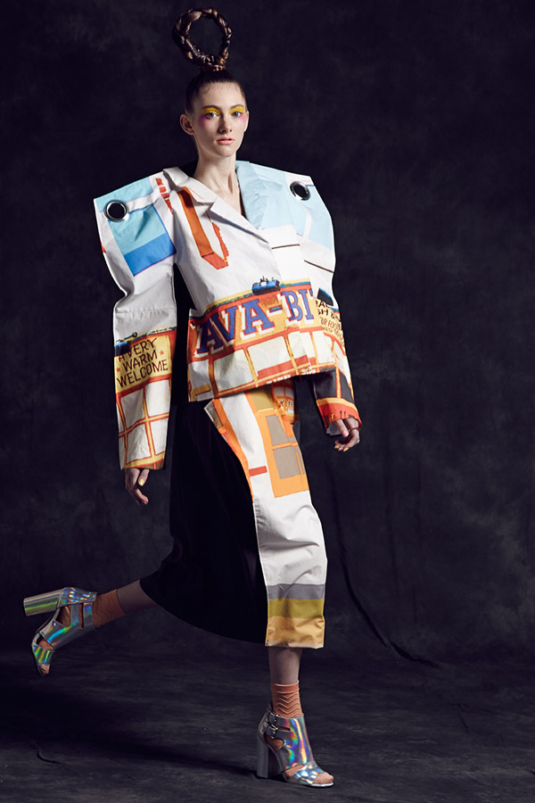 AW14 Look 1: Ava Bite—Signs of the Times Collection by Carrie-Ann Stein