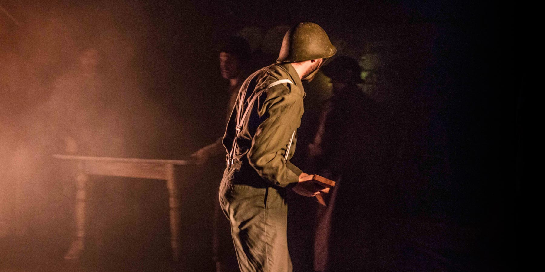 Photograph taken from The Hire man performance at The Iris Theatre